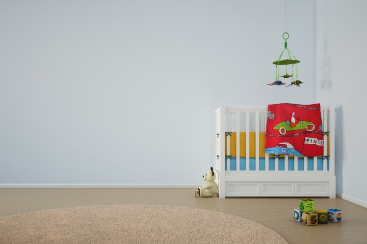 image of cot in bedroom on carpet for header image for residential cleaning service from Green Clean Carpet Cleaning