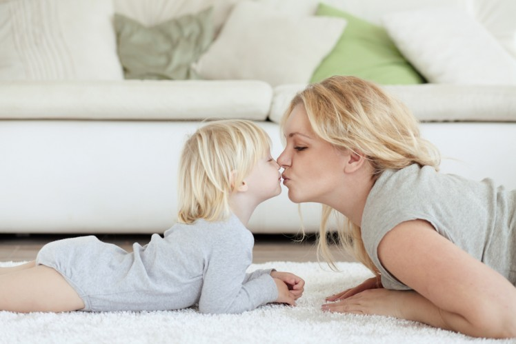 mother and baby dry safe carpet and rug cleaning service Sydney from Green Clean Carpet Cleaning